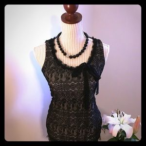 Elegant Cabi Black lace blouse
